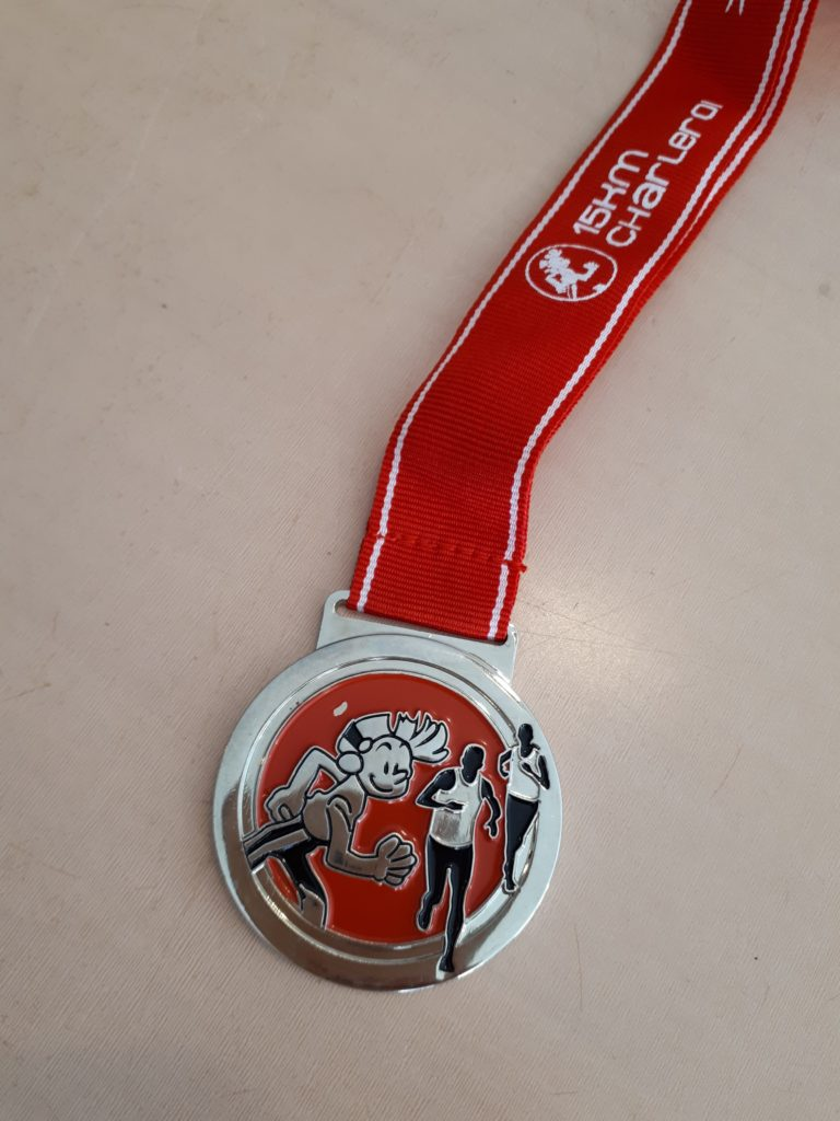 15km charleroi - médaille