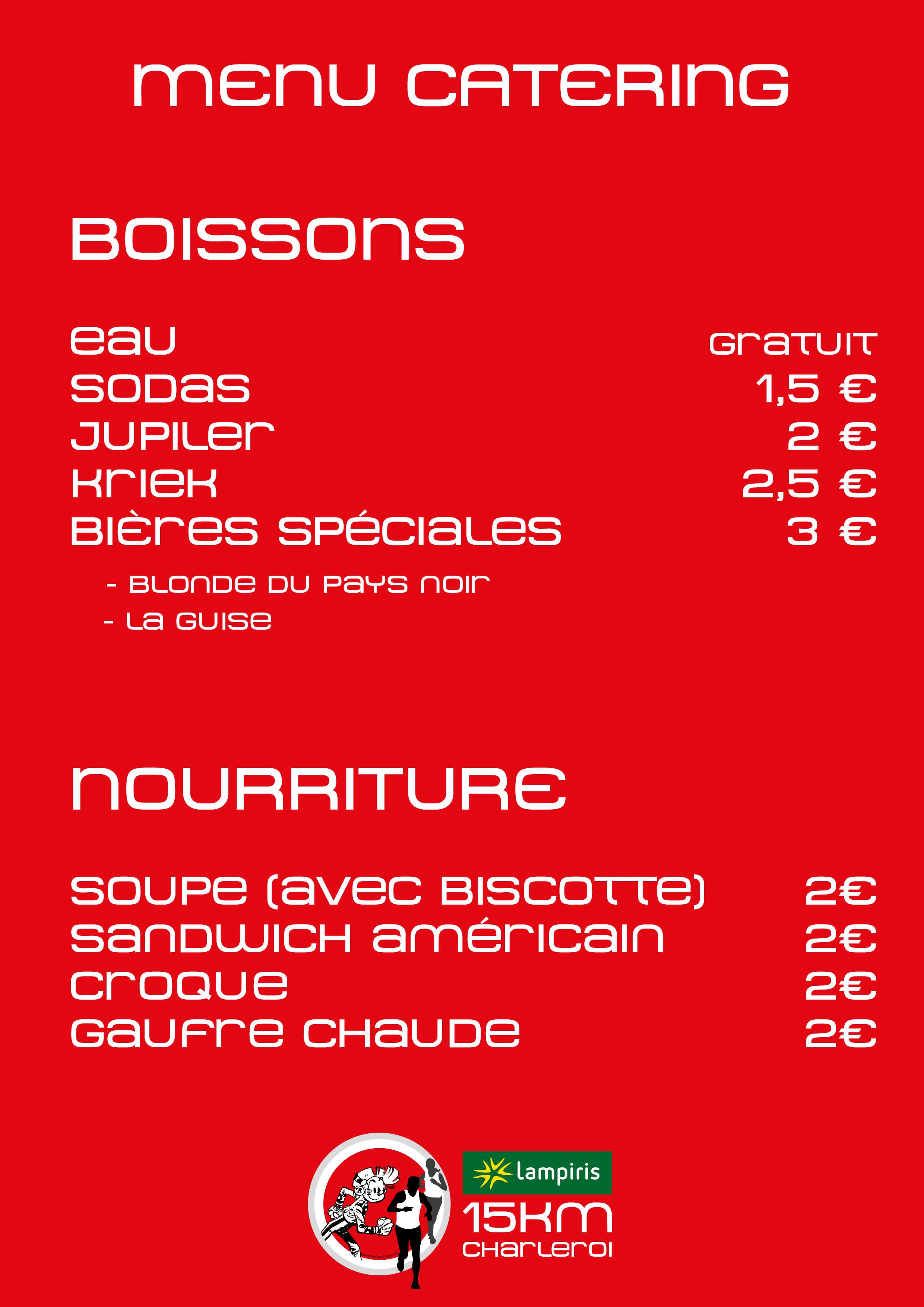 15km Charleroi - catering