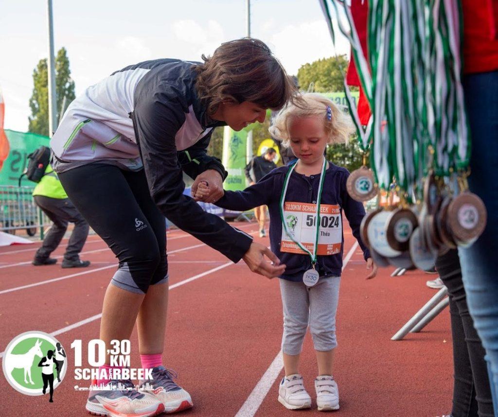 10km schaerbeek - médaille