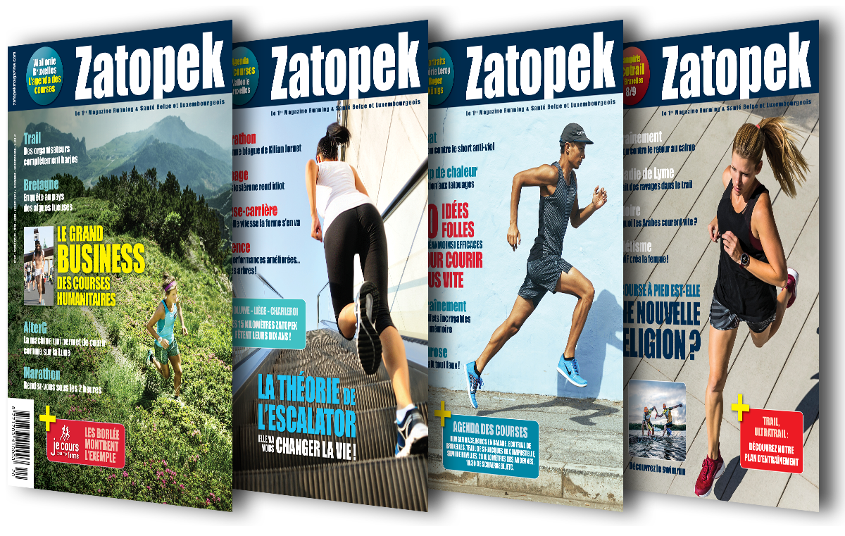 Anciennes covers Zatopek Magazine