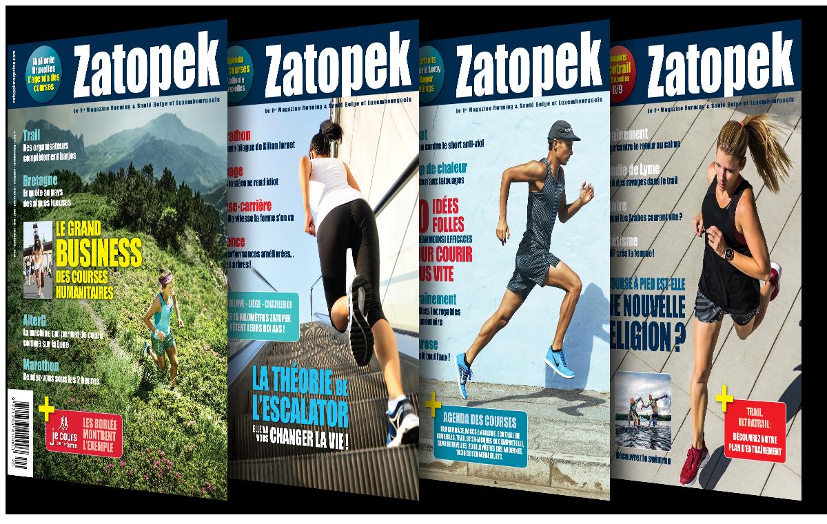 Anciennes covers Zatopek Magazine