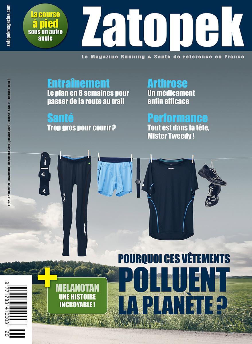 COUVERTURE ZATOPEK MAGAZINE N°52 FR