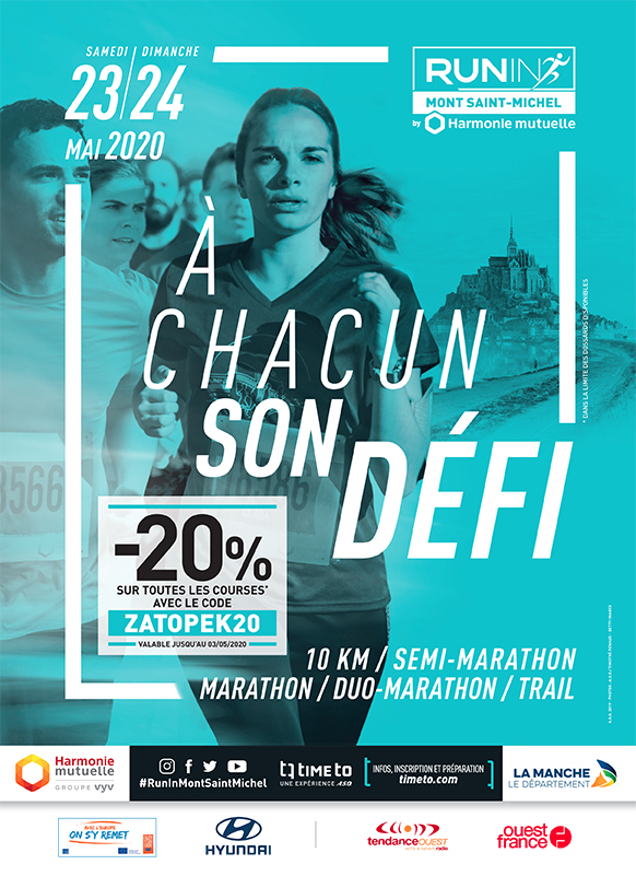 Run In Mont Saint Michel Affiche