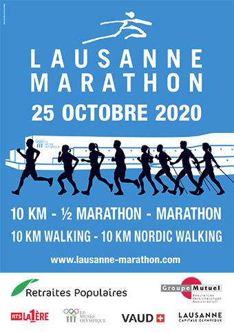 Lausanne Marathon Affiche 2020