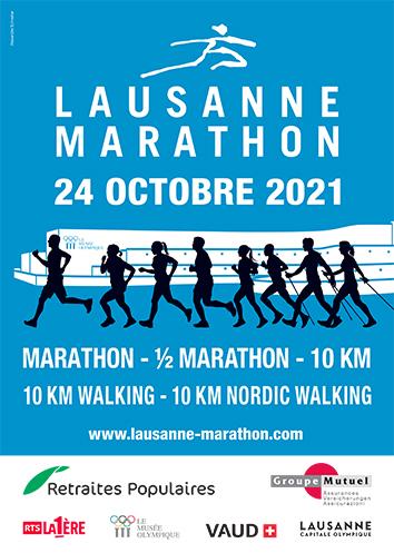 Lausanne Marathon Affiche 2021