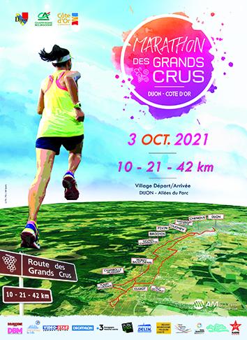 Marathon des Grands Crus Affiche 2021