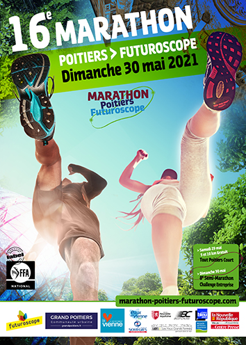 Marathon Poitiers Futuroscope Affiche 2021
