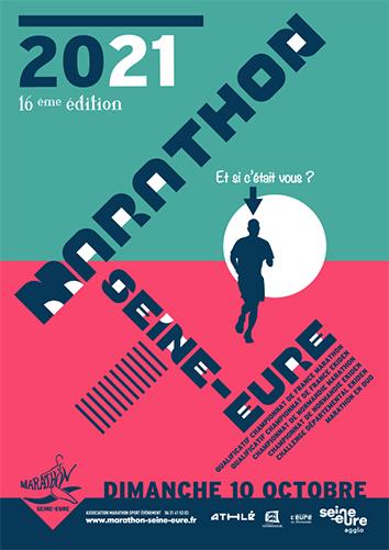 MARATHON SEINE-EURE AFFICHE 2021
