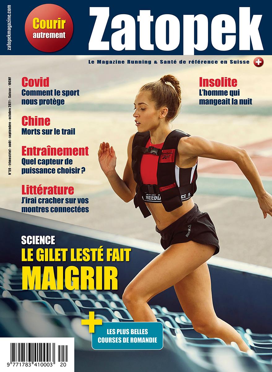 COUVERTURE ZATOPEK MAGAZINE N°59 SUISSE ROMANDE