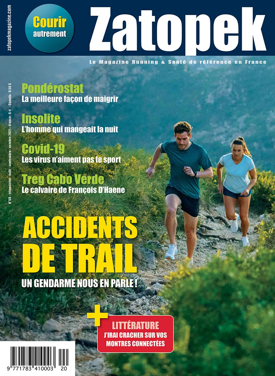 COUVERTURE ZATOPEK MAGAZINE FRANCE N°59