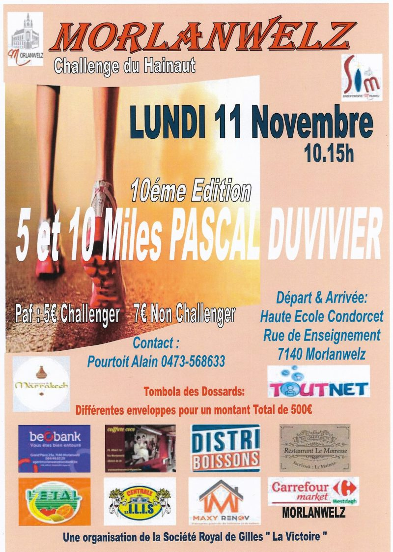 5 10 miles Pascal Duvivier Morlanwelz